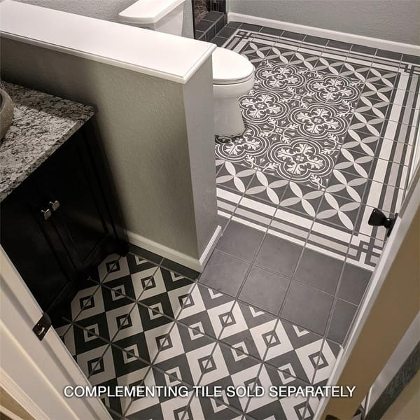 Somertile 7 75x7 75 Inch Thirties Frame Ceramic Floor And Wall Tile 25 Tiles 11 Sqft Overstock 9183112