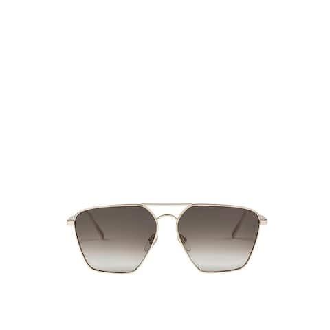 MCM Women's Metal Frame Khaki Lens Aviator Sunglasses MEG9S2I09GK001 - One Size