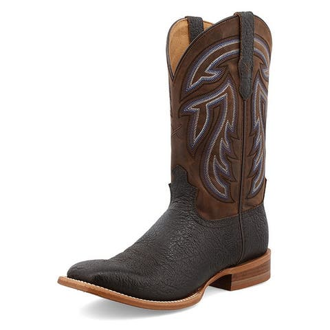 """Twisted X Western Boots Mens 12"""" Rancher Black Coffee"""