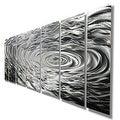 Statements2000 Silver Modern Etched Metal Wall Art Sculpture by Jon Allen - Ripple Effect - Thumbnail 7