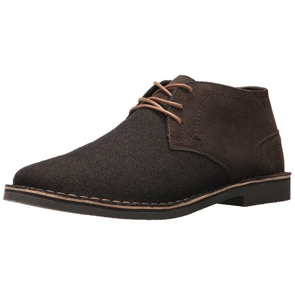 Kenneth Cole Reaction Mens DESERT WIN Leather Lace Up Casual Oxfords