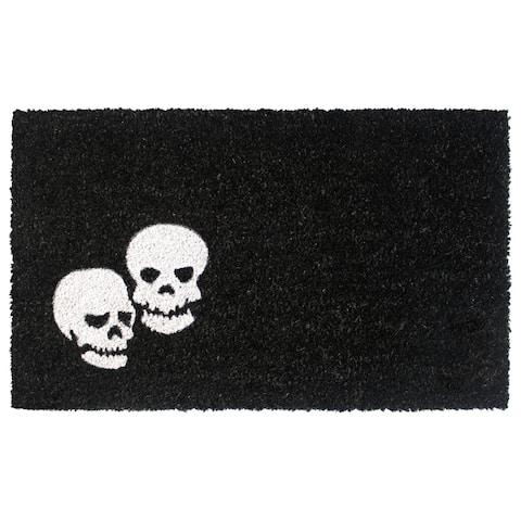 "RugSmith White Machine Tufted Skeletons Doormat, 18"" x 30"" - 18"" x 30"""