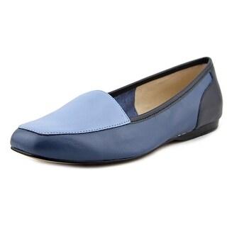 Bandolino Liberty Women Square Toe Leather Blue Loafer