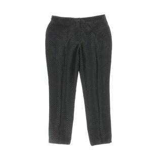 Calvin Klein Womens Petites Dress Pants Printed Pleated