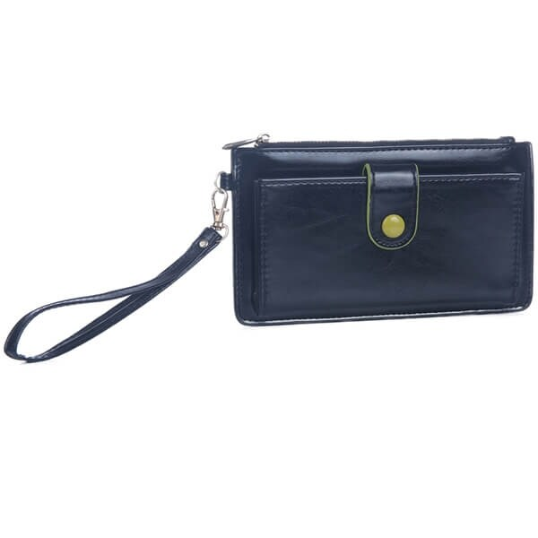 Mad Style Black Button-Down Wristlet Wallet