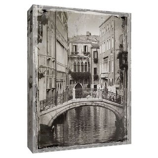 """PTM Images 9-148441  PTM Canvas Collection 10"""" x 8"""" - """"Venice Romance II"""" Giclee Streams & Rivers Art Print on Canvas"""