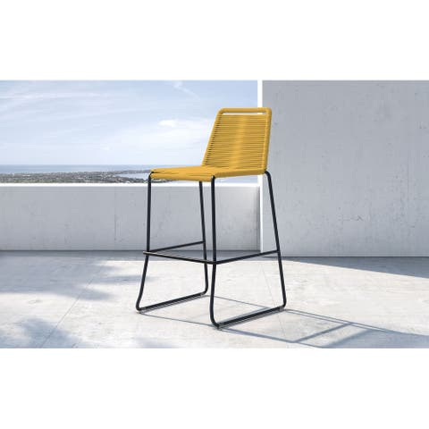Barclay Stacking Bar Stool in Curry Yellow Cord