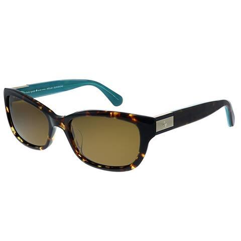 Kate Spade KS Marilee/P FZL Womens Havana Tortoise Frame Bronze Polarized Lens Sunglasses