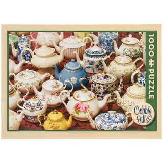 "Jigsaw Puzzle 1000 Pieces 10""X14""-Teapots"