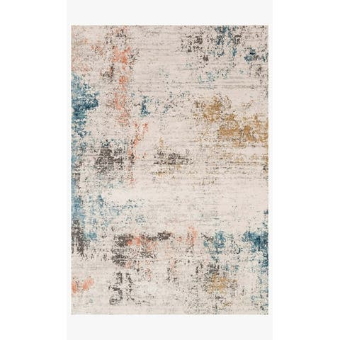 Alexander Home Keara Abstract Distressed Contemporary & Modern Rug