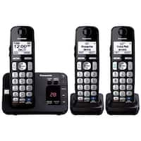 Panasonic KX-TGE233B Expandable Cordless Digital Phone With Intelligent Eco Mode- 3 Handsets