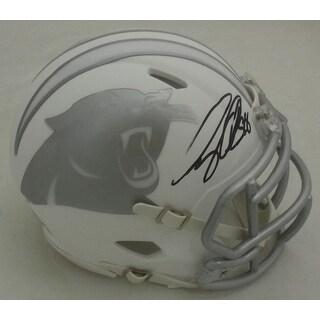Greg Olsen Autographed Carolina Panthers Ice Mini Helmet JSA