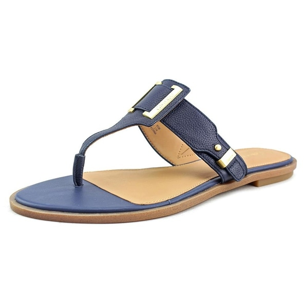 Calvin Klein Ula Toscana Women Open Toe Leather Blue Sandals