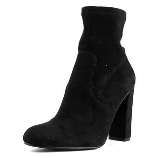 Steve Madden Edit Women  Round Toe Canvas Black Ankle Boot