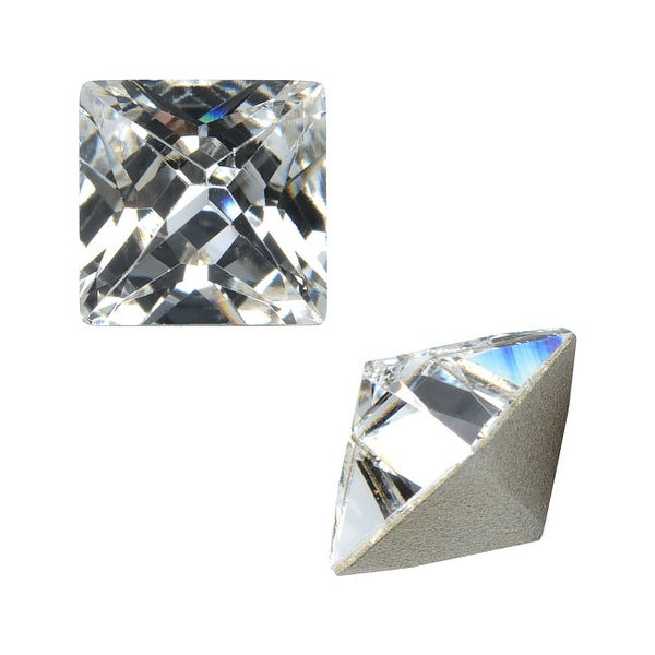 Swarovski Elements Crystal, 4418 Xilion Pointed Square Fancy Stones 8mm, 2 Pieces, Crystal F