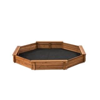 Creative Cedar Designs Octagon Sandbox with Cover