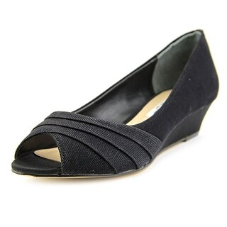 Nina Rowan Women Open Toe Canvas Wedge Heel