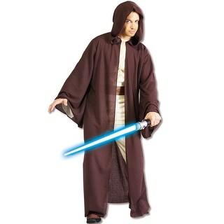 Rubies Deluxe Hooded Jedi Robe Adult Costume - Brown - Standard