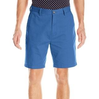 Nautica NEW Union Blue Mens Size 36 Twill Flat Front Chino Short
