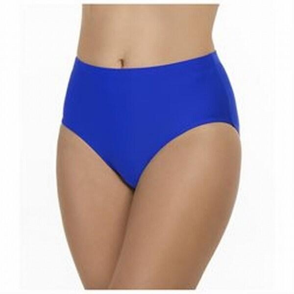 f11dba49bc Shop Penbrooke NEW Blue Womens Size 24W Plus Tummy Control Bikini Bottom -  Free Shipping On Orders Over  45 - Overstock.com - 20006359