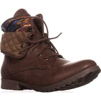 Rock & Candy Spraypaint Foldover Ankle Boots, Dark Brown Multi - 11 us