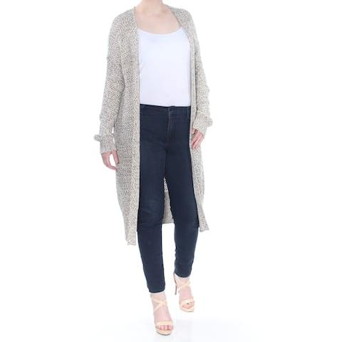 SANCTUARY Womens Beige Open Front Duster Long Sleeve Sweater Size: XL