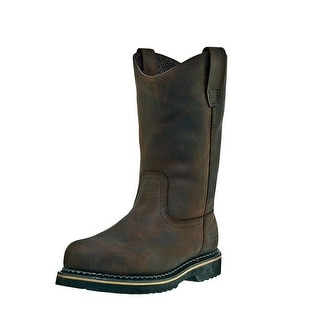 McRae Industrial Work Boots Mens Wellington Ruff Rider Brown MR85144