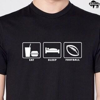 Shop Eat Sleep Football Men's Cool T-Shirt Design Funny ...
