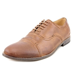 Kenneth Cole Reaction Rea-Pin-G Men Cap Toe Leather Tan Oxford