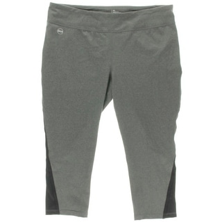 L-RL Lauren Active Womens Athletic Leggings Cropped Performance