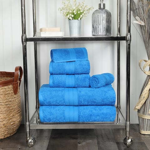 Miranda Haus 6-piece Plush 700GSM Long Staple Combed Cotton Towel Set
