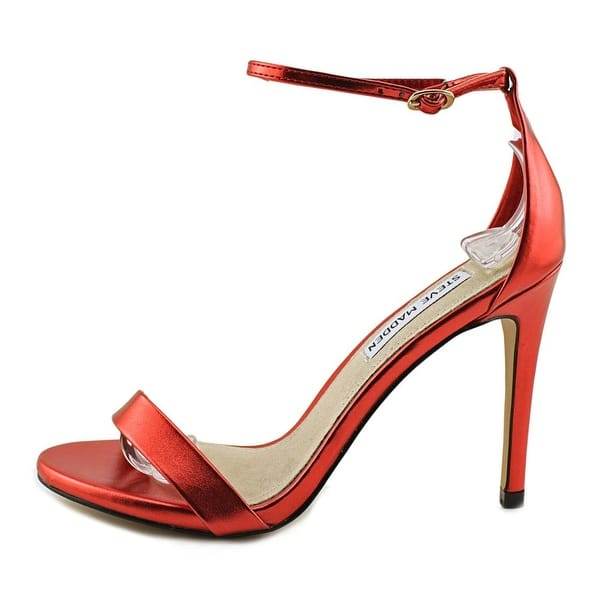 285aad6016a Shop Steve Madden Stecy Women Red Metallic Sandals - Free Shipping ...