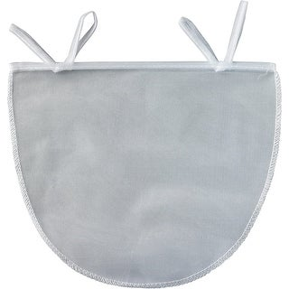 "HIC Reusable and Machine Washable Polyester 11"" x 9"" Nut Milk Bag - White"