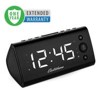 Electrohome USB Charging Alarm Clock Radio for Smartphones & Tablets with Dual Alarm - 1 Year Extended Warranty