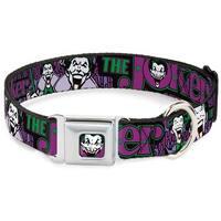 Dog Collar JKA-Joker Face - Joker Face Logo Spades Black Green Purple - Pet Collar