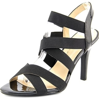 Ann Marino by Bettye Muller Daphne Women Open-Toe Canvas Black Slingback Heel|https://ak1.ostkcdn.com/images/products/is/images/direct/59d17c481998f7366114342ace844d9ab4e955f3/Ann-Marino-by-Bettye-Muller-Daphne-Women-Open-Toe-Canvas-Slingback-Heel.jpg?impolicy=medium