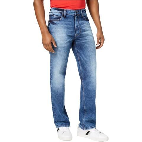 Sean John Mens Hamilton Relaxed Stretch Jeans, Blue, 34W x 34L