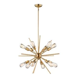 Link to Estelle Natural Brass Mid-Century Modern Sputnik Pendant Similar Items in Pendant Lights
