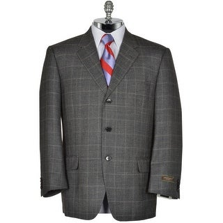 Joseph Abboud Signature Charcoal Silk and Wool Sportcoat 42 Short Check Blazer