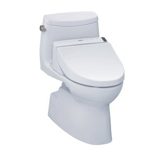 Toto MW6142044CEFG Carlyle II One-Piece Elongated 1.28 GPF Toilet with Tornado Flush Technology