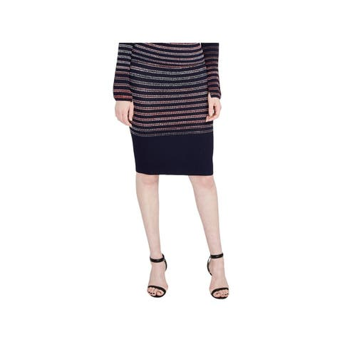 Rachel Rachel Roy Womens Pencil Skirt Space Dye Textured