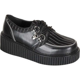 Demonia Women's Creeper 113 Black PU/Pinstripe