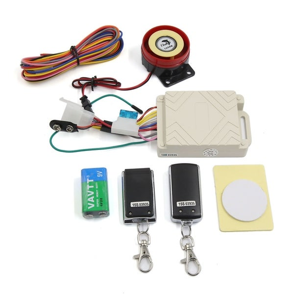 Unique Bargains12V Motorcycle Scooter Anti-theft Security Alarm System with Remote Control