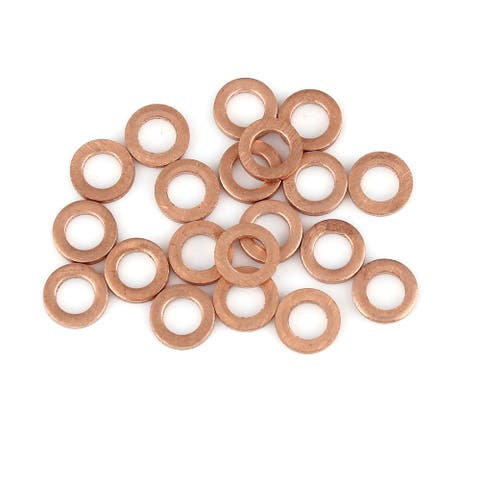 Copper Washer Flat Sealing Gasket Ring Spacer for Car 5 x 9 x 1.5mm 20pcs