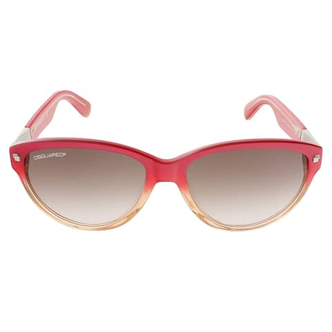 Dsquared DQ0147/S 44F Coral Gradient Cat Eye sunglasses - 57-16-140