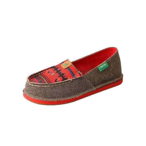 Twisted X Casual Shoes Kids Loafer ECO TWX Print Dust Red. Opens flyout.