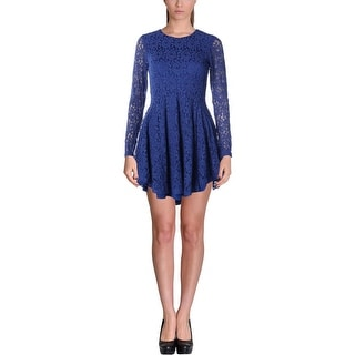 Mustard Seed Womens Lace Long Sleeves Cocktail Dress