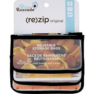 BlueAvocado Zip Seal Snack Bag - Black 3 Bag(S)