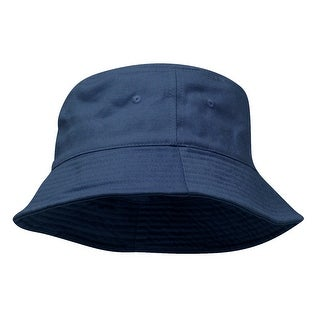 Pigment Dyed Bucket Hat-Navy