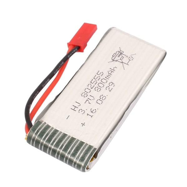 3.7V 800mAh Charging Lithium Polymer Li-po Battery JST-2P for RC Airplane